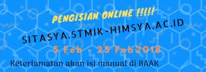 Pengisian KRS ONline Genap 2018-2019