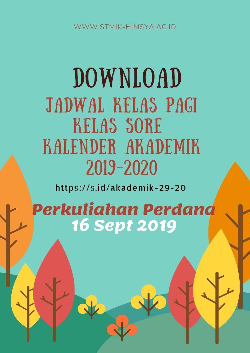 Download Jadwal dan Kalender Akademik 2019-2020