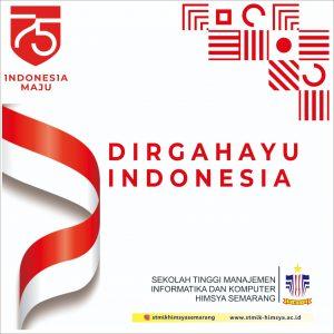 Kemerdekaan bukan tanda untuk berhenti berjuang, tapi tanda untuk berjuang lebih keras. Selamat ulang tahun ke-75 untuk rakyat Indonesia
